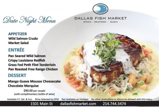 dallas fish market winter date night menu