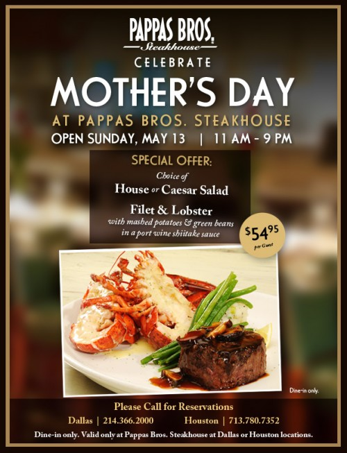 Mother S Day At Pappas Bros Steakhouse