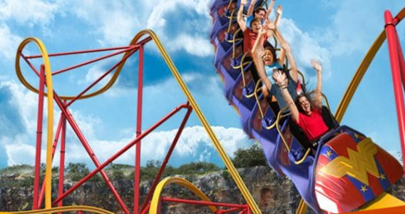 Fiesta TX Wonder Woman Roller Coaster